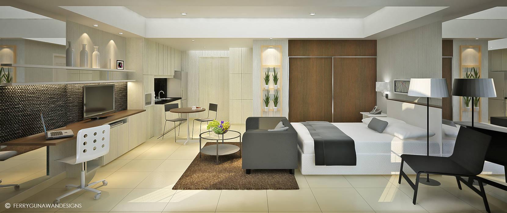 Service Apartment: Hotels oleh FerryGunawanDesigns,