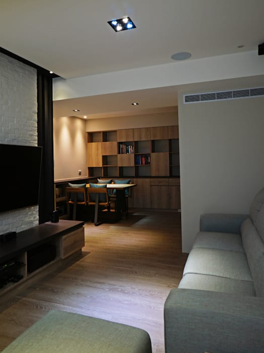 Salon moderne par ISQ 質の木系統家具 Moderne