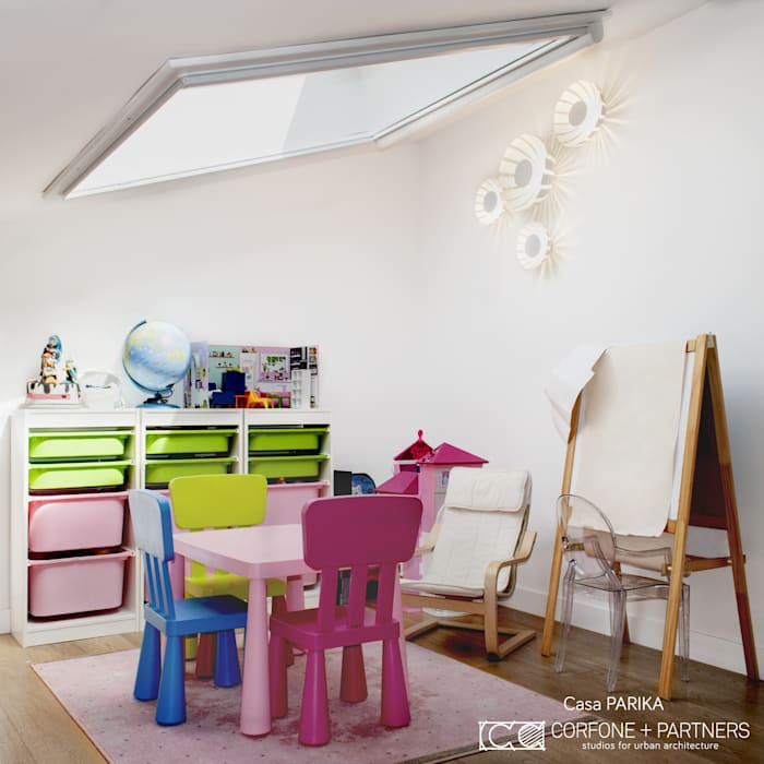 Modern Kid's Room by CORFONE + PARTNERS studios for urban architecture Modern