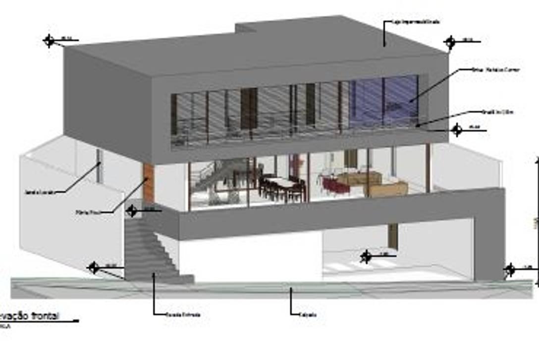 Casa THMI Casas modernas por adnssouza arquitetura e interiores Moderno