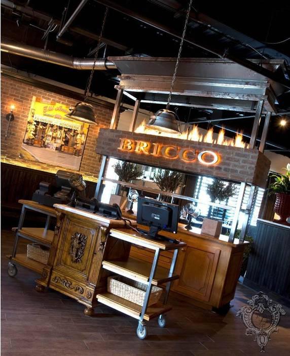 Restaurant Foyer by Kellie Burke Interiors Rustic