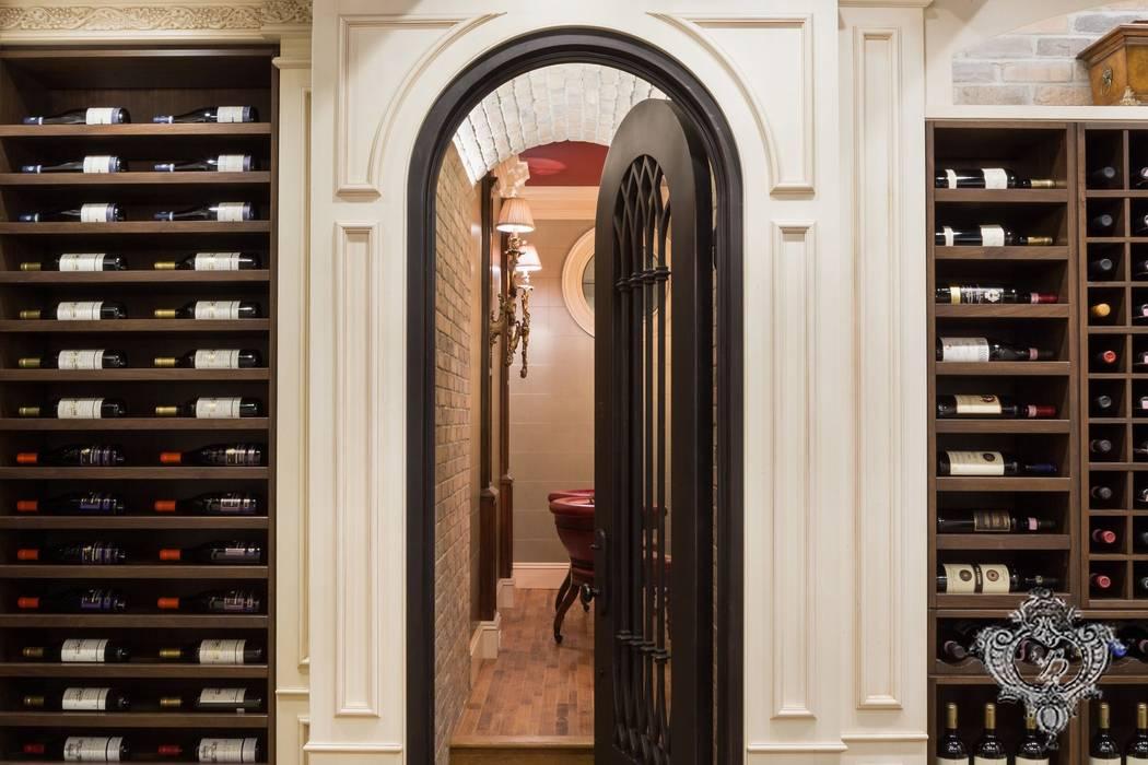 Wine Cellar:  Wine cellar by Kellie Burke Interiors