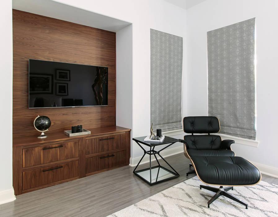 Salas multimedia de estilo  de Claudia Luján, Moderno