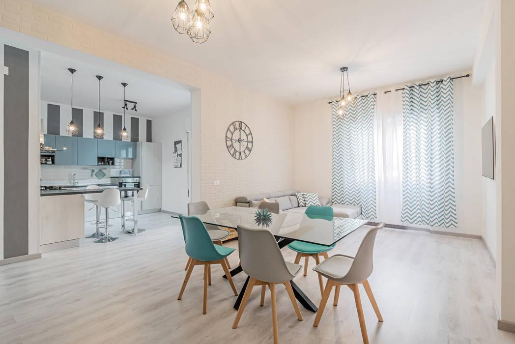 Ristrutturazione appartamento Roma, Tor Sapienza: Sala da pranzo in stile  di Facile Ristrutturare