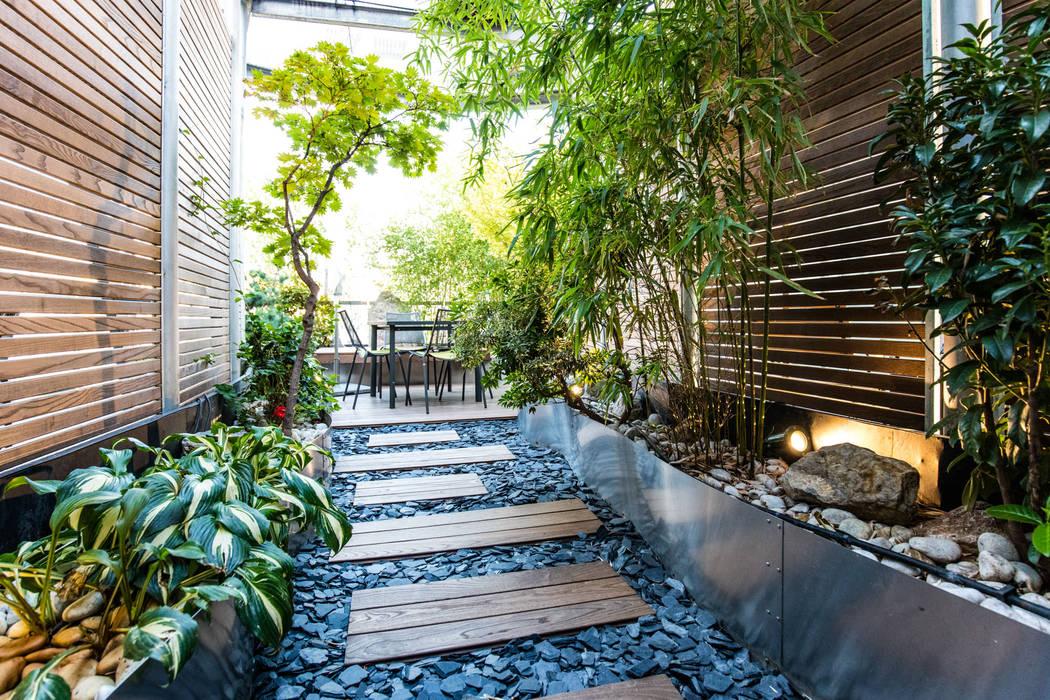 untere Terrassenebene:  Terrasse von cy architecture