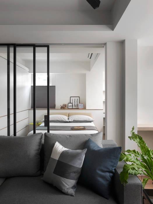 開放式客臥:  臥室 by 御見設計企業有限公司