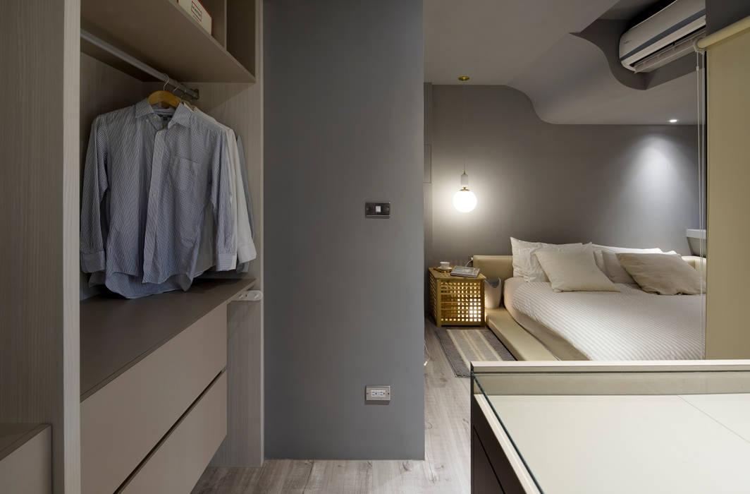灰色牆面的沉靜個性 磨設計 臥室