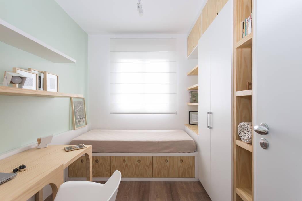 Dormitorios de estilo escandinavo de ARQ.STHÊ.DEZ Escandinavo Madera Acabado en madera