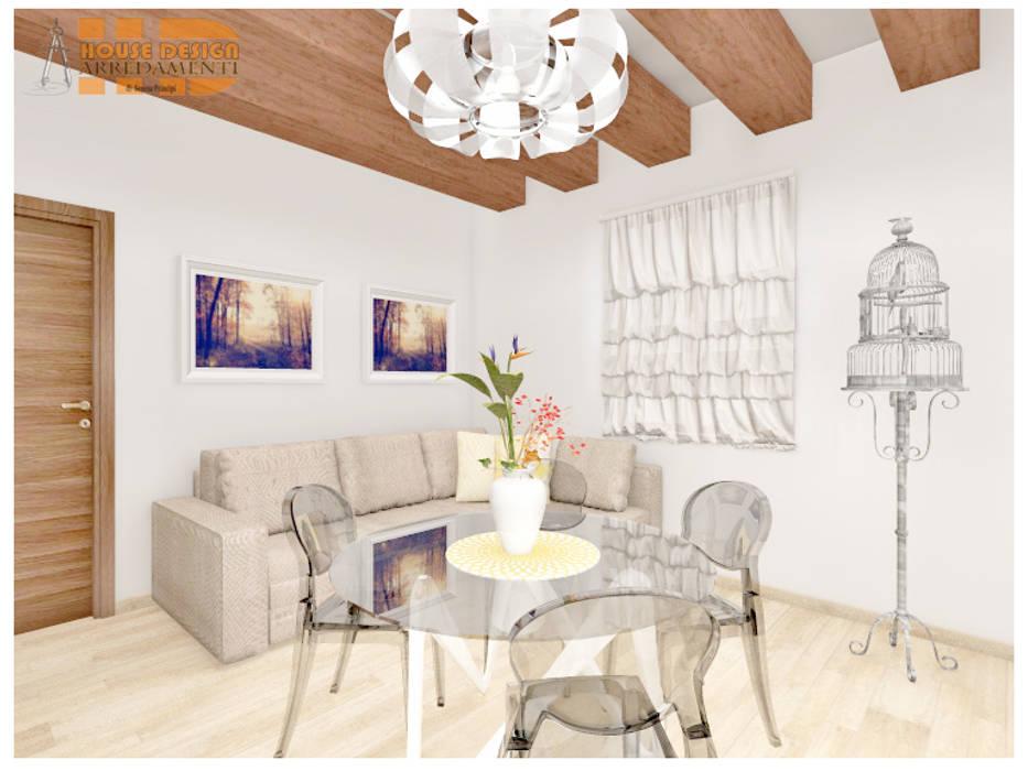 Tavolo Da Pranzo Con Panca Angolare.Living Sala Da Pranzo Con Travi In Legno A Vista Tavolo