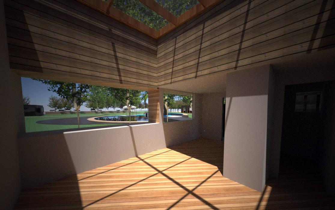 Centro de eventos, Codigua, Melipilla.: Livings de estilo  por Toledo estudio Arquitectos, Mediterráneo