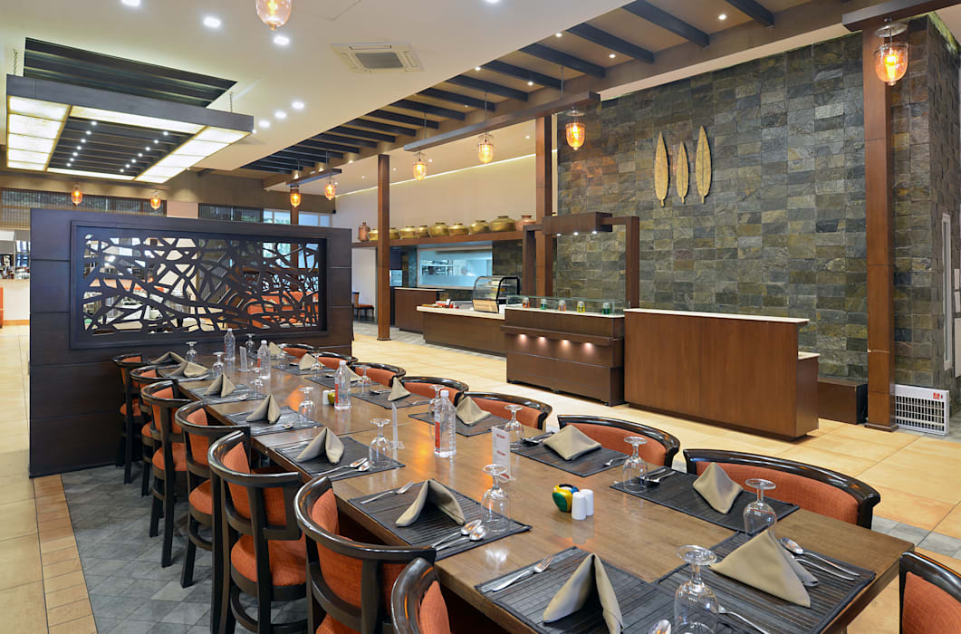 Restaurant Area Rustic style hotels by Matai Associates Rustic