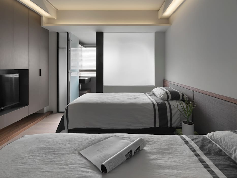 Modern style bedroom by 禾築國際設計Herzu Interior Design Modern