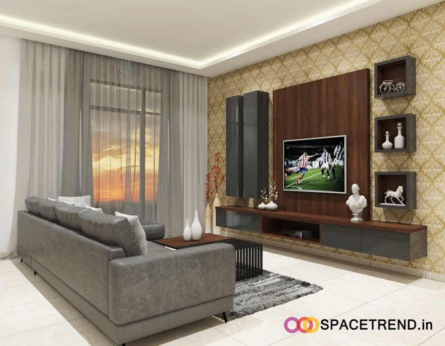 Prestige Tranquility:  Living room by Space Trend
