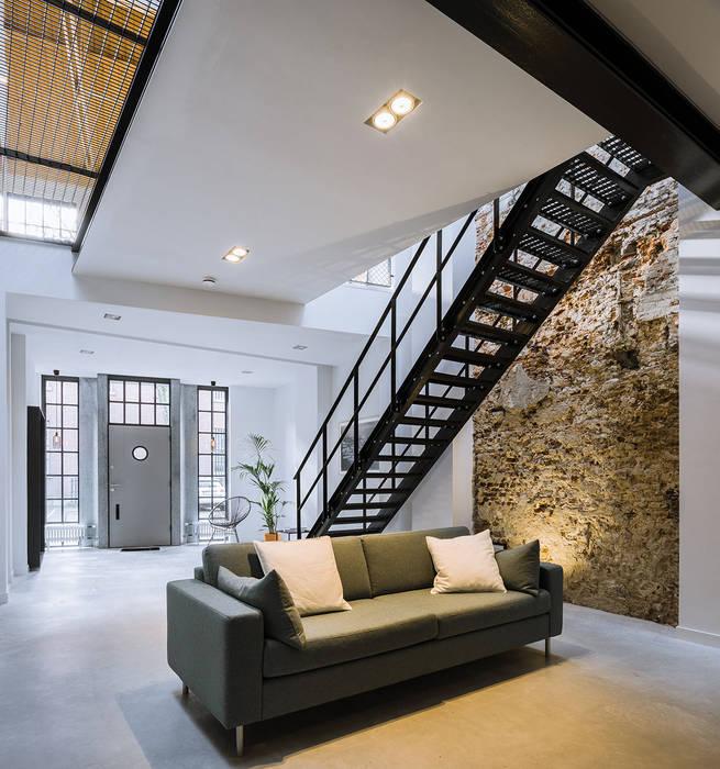 EVA architecten Modern Living Room