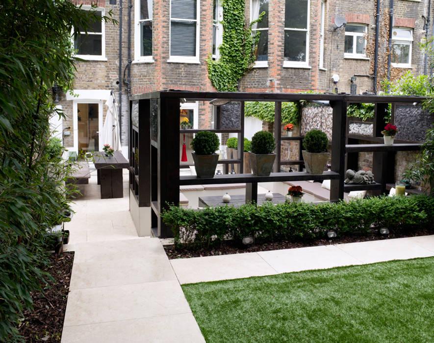 Travertine Pathway: modern Garden by Earth Designs