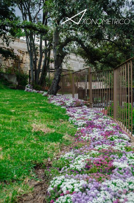 Rio de Flores: Jardines de estilo  por Axonometrico,