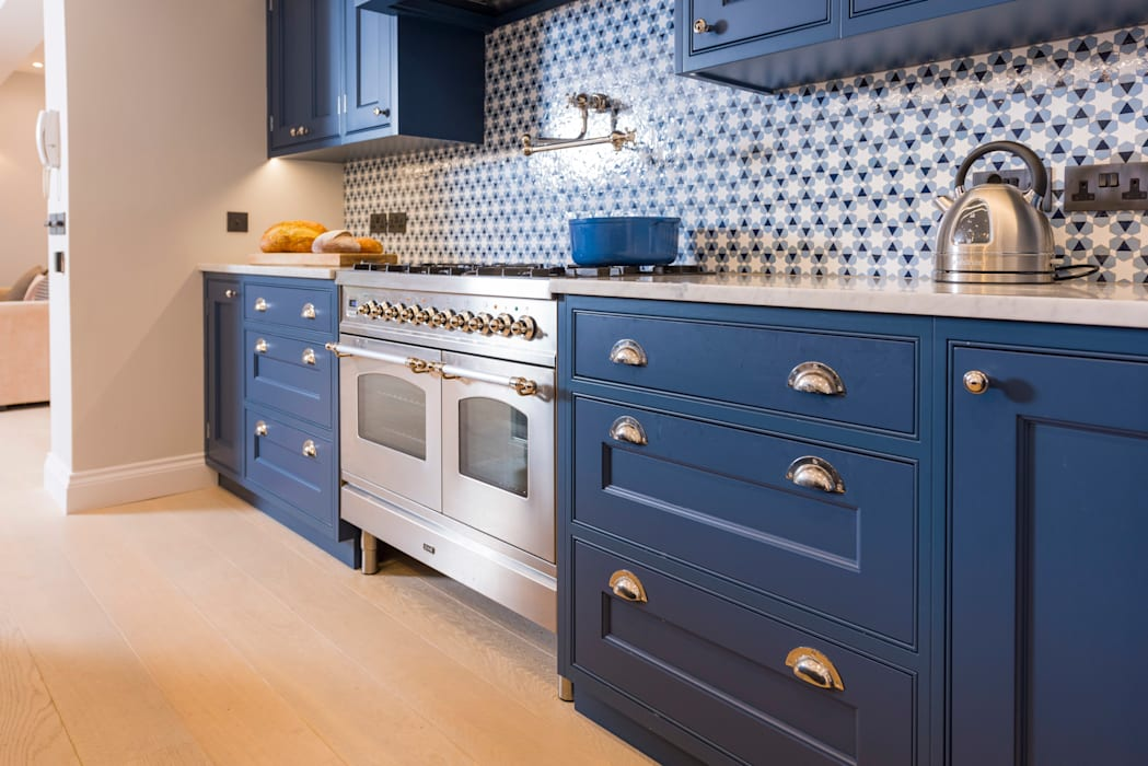 Kensington Blue Kitchen: modern Kitchen by Tim Wood Limited