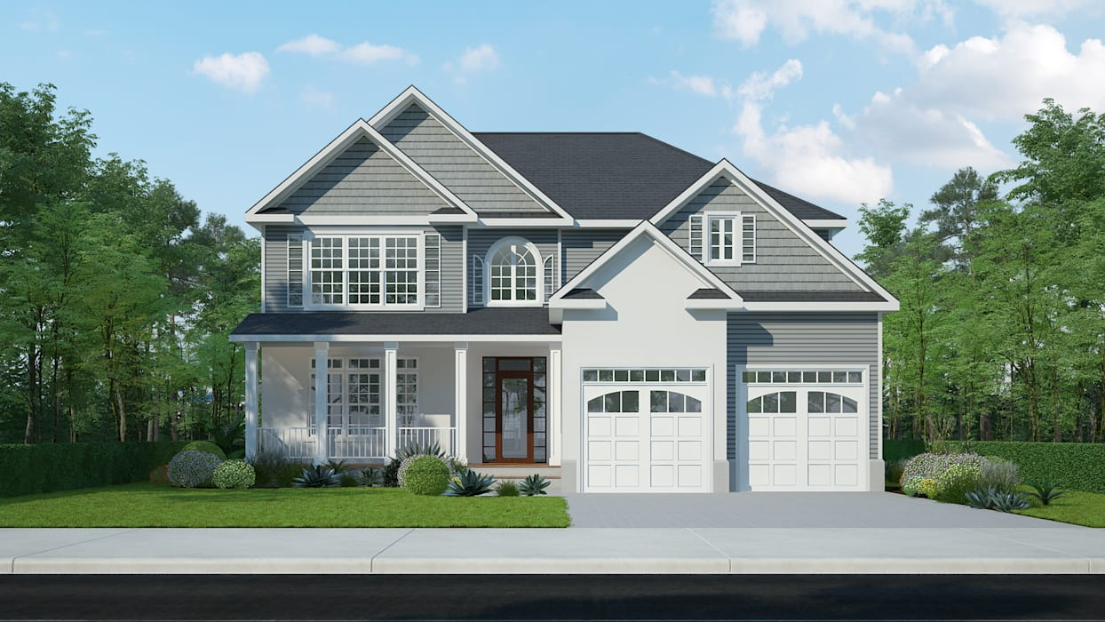 3D Exterior Rendering Services by The 2D3D Floor Plan Company 모던
