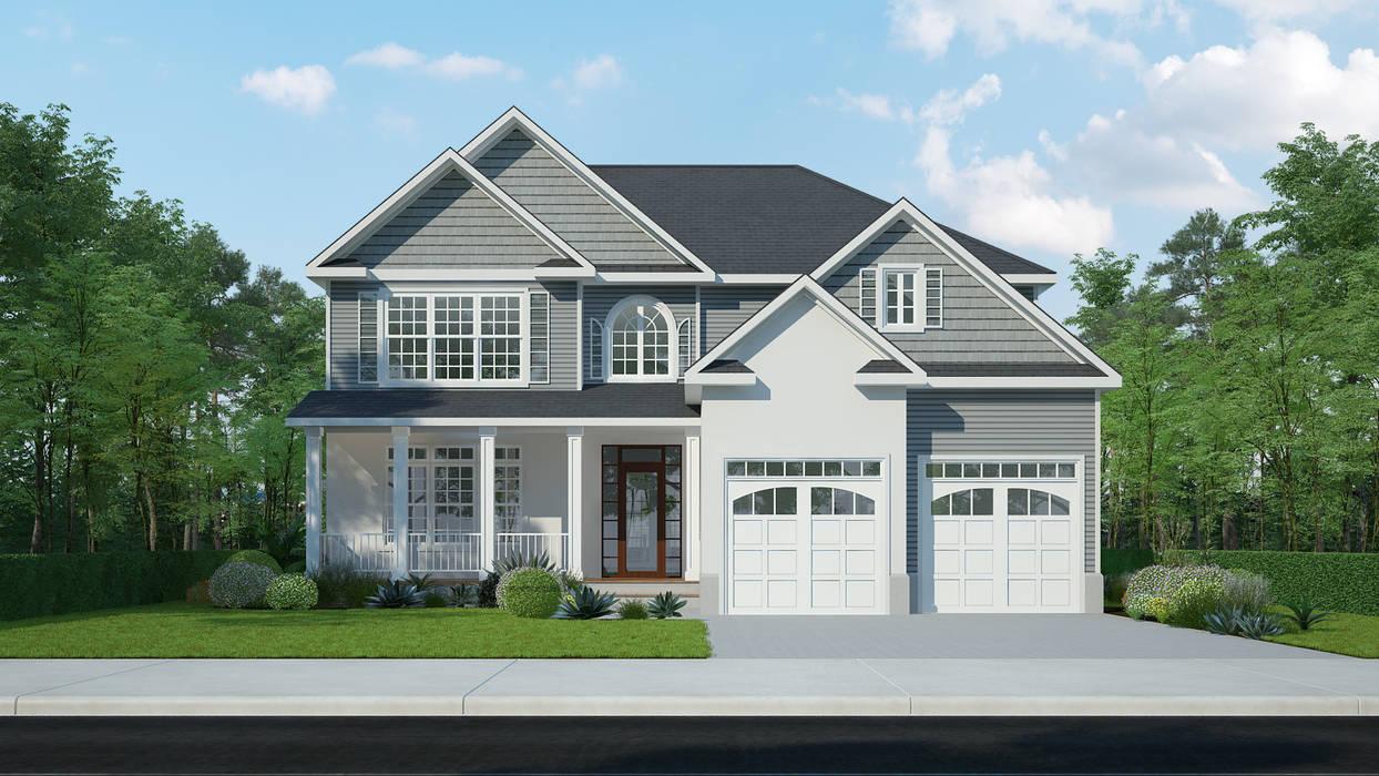 3D Exterior Rendering Services โดย The 2D3D Floor Plan Company โมเดิร์น