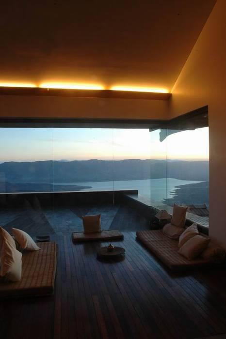 Living Room- Seating Studio - Architect Rajesh Patel Consultants P. Ltd Modern Living Room
