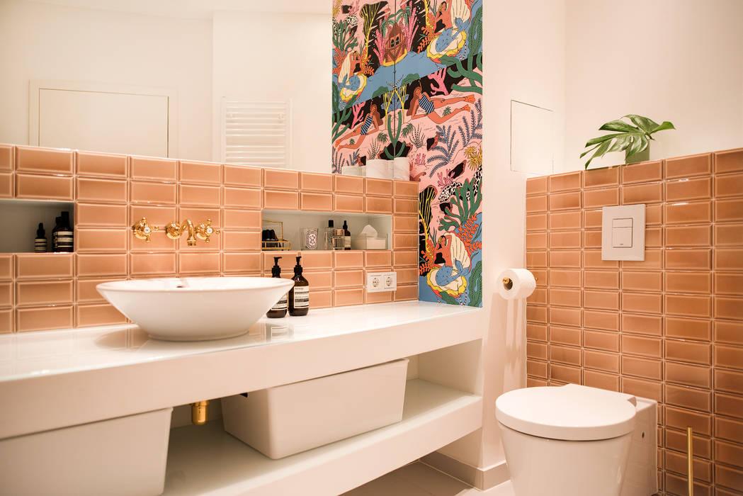 THE INNER HOUSE 에클레틱 욕실 핑크
