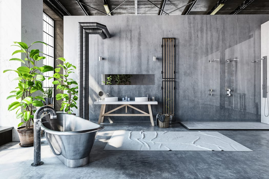 Bathroom - Industrial style:  Bathroom by homify demonstration profile