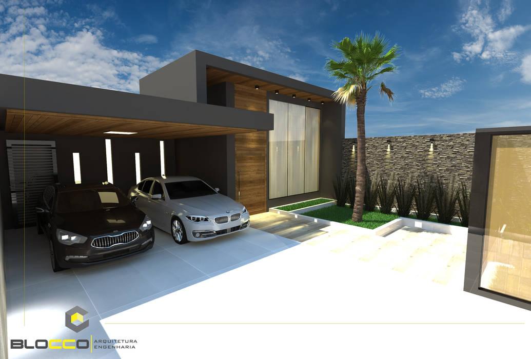 Fachada Casa Moderna Casas Familiares Por Bloco