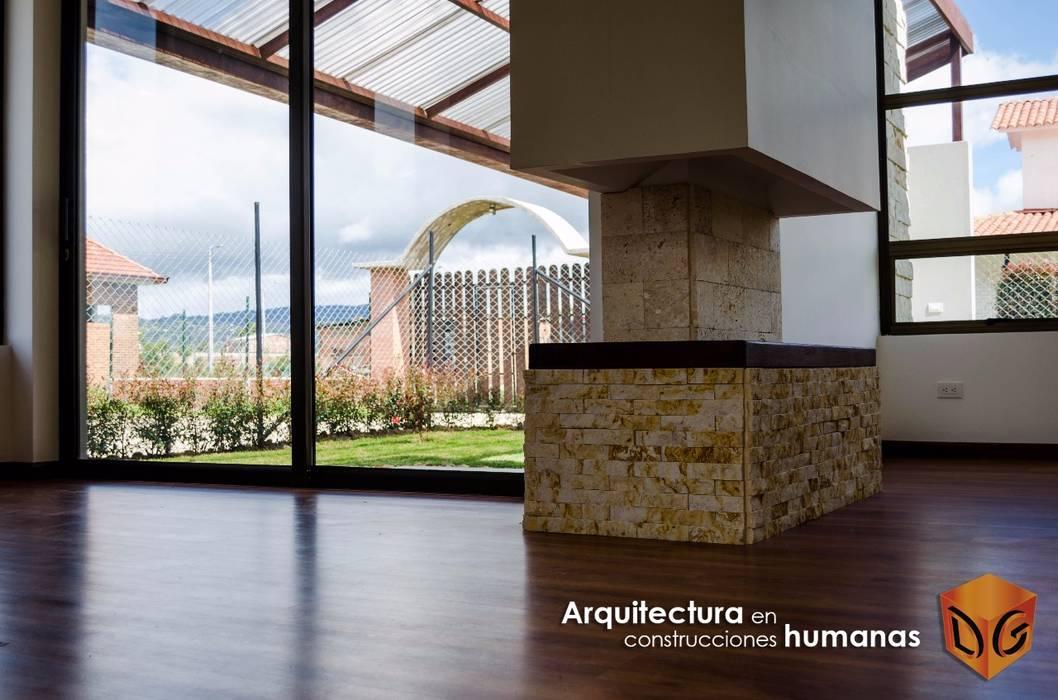 DG ARQUITECTURA COLOMBIA Ingresso, Corridoio & Scale in stile moderno Legno