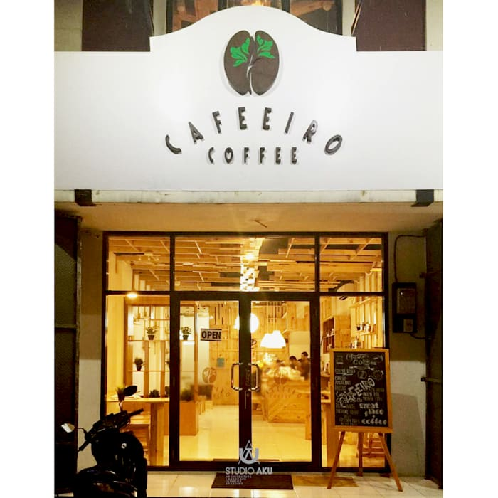 Cafeeiro 13 Ruang Komersial Gaya Eklektik Oleh Studio AKU Eklektik Kayu Wood effect