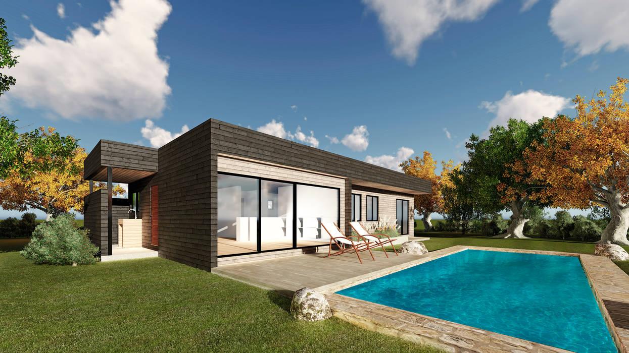 CASA R01: Casas unifamiliares de estilo  por NEF Arq.