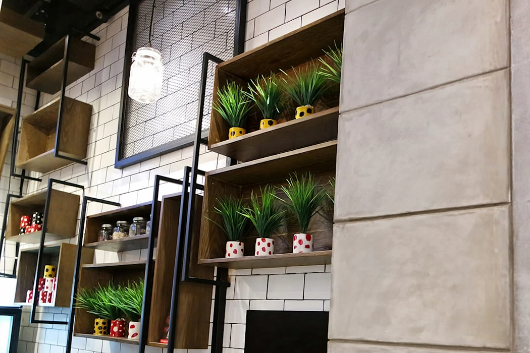 HONG TANG Lippo Mall St. Moritz Puri Evonil Architecture Ruang Makan Gaya Industrial