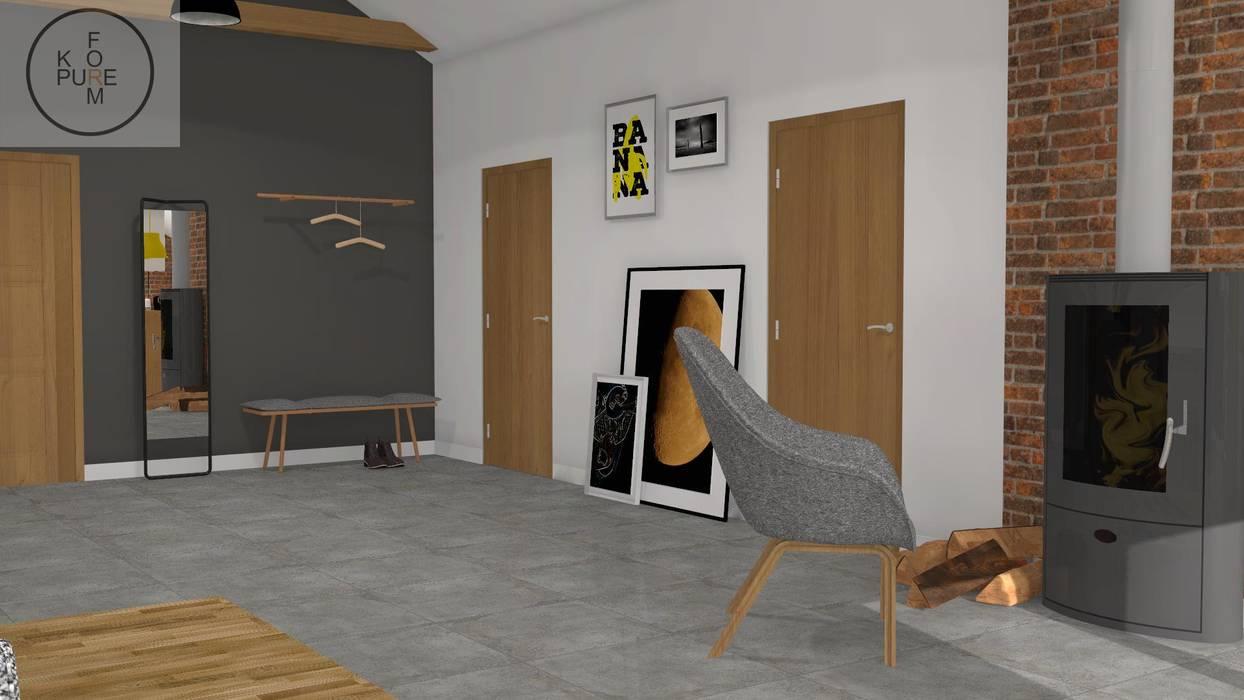 Mieszkanie Na Poddaszu Styl W Kategorii Korytarz