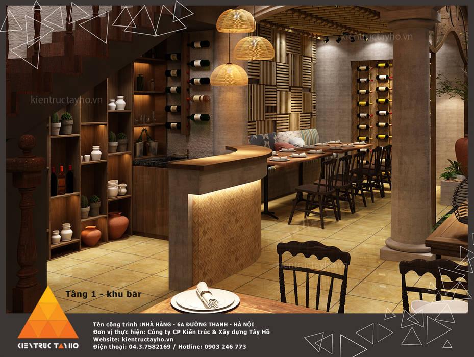 Khu vực quầy bar Phòng ăn phong cách mộc mạc bởi homify Mộc mạc