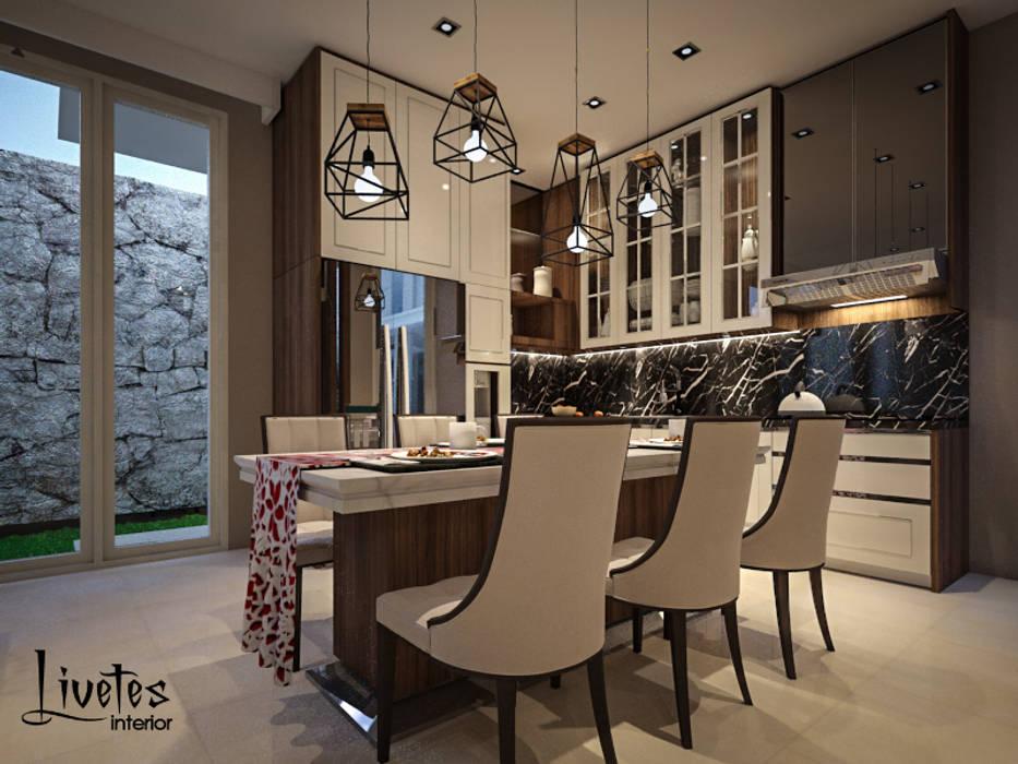 Pantry & Dining Room: Ruang Makan oleh PT Kreasi Cemerlang Abadi, Modern Kayu Wood effect