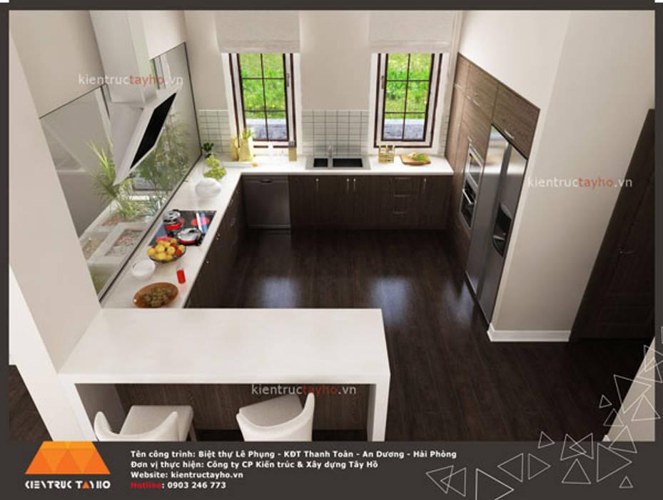 Phòng bếp :  Tủ bếp by KIẾN TRÚC TÂY HỒ