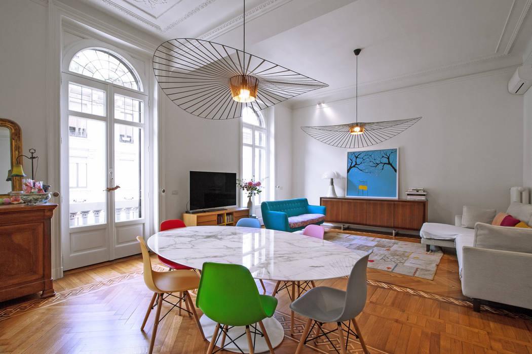 Salle à manger moderne par Chantal Forzatti architetto Moderne Bois massif Multicolore