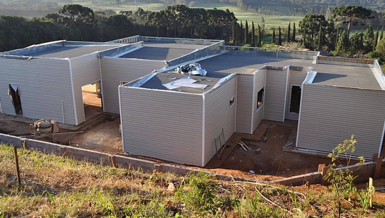 CONSTRUÇÃO EM AÇO (LSF) - Na Vanguarda dos Sistemas Construtivos Casas modernas por Decorvisão | Sistemas de Remodelação e Construção LSF Moderno Ferro/Aço
