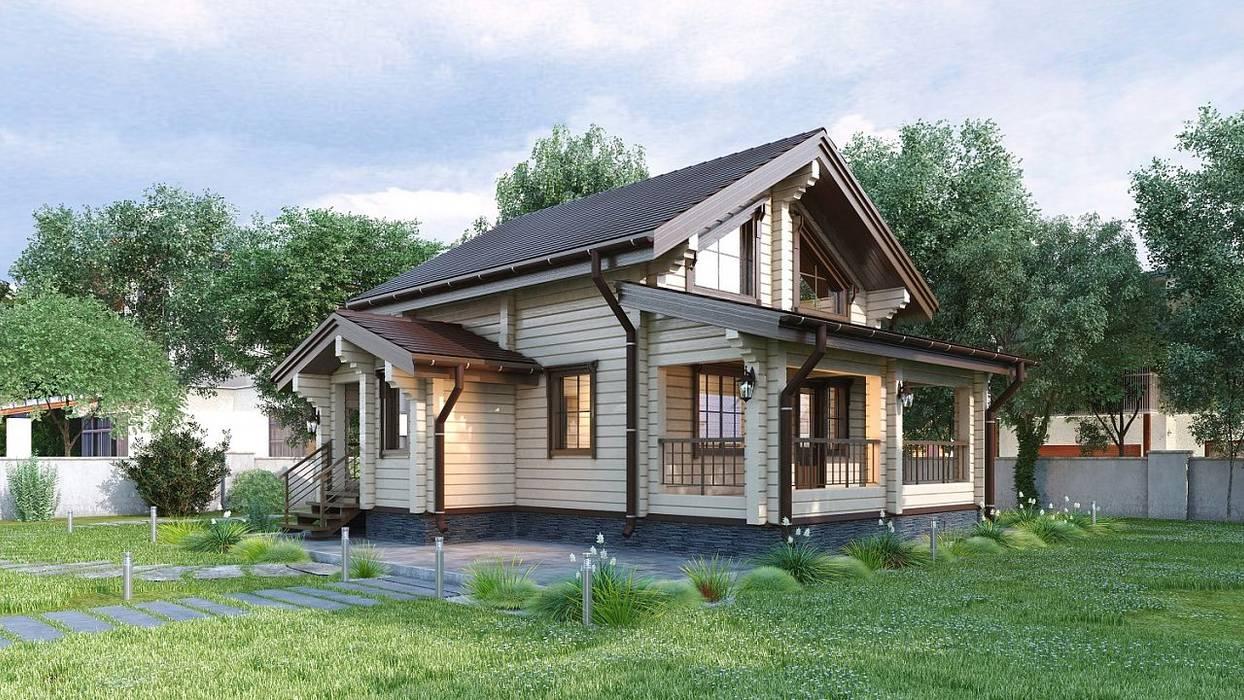 Дом из профилированного бруса: Деревянные дома в . Автор – ООО 'Студия Клееного Бруса',