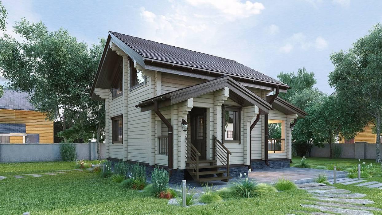 Дом из профилированного бруса: Дома в . Автор – ООО 'Студия Клееного Бруса'