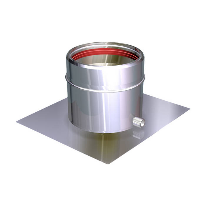 PIASTRA PART. CON SCARICO COND. LATERALE CANNE FUMARIE INOX: Case in stile in stile Classico di CANNE FUMARIE ONLINE