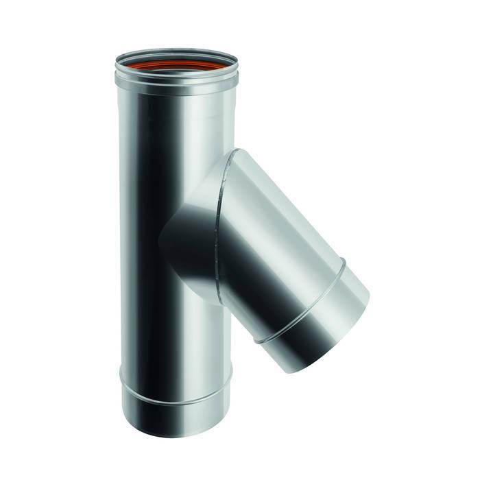 RACCORDO TE 45° CANNE FUMARIE: Case in stile in stile Moderno di CANNE FUMARIE ONLINE