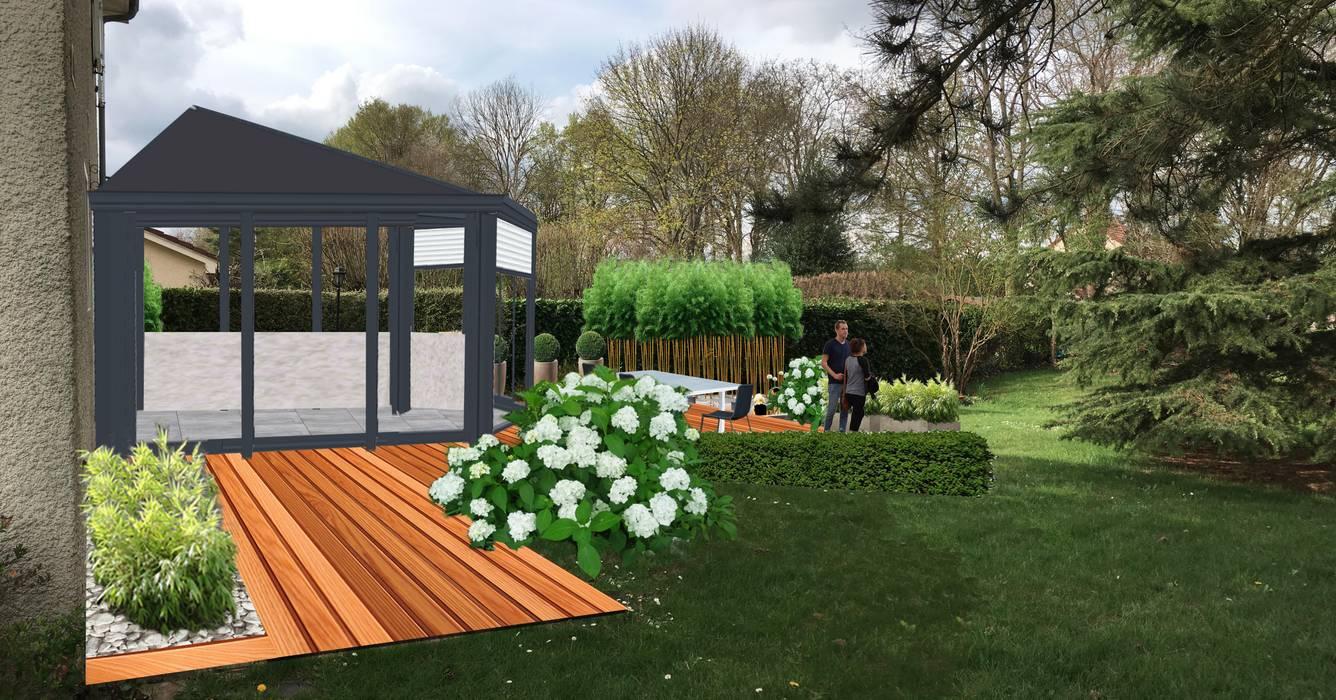 Jardin contemporain zen et épuré // la claye-souilly (77 ...