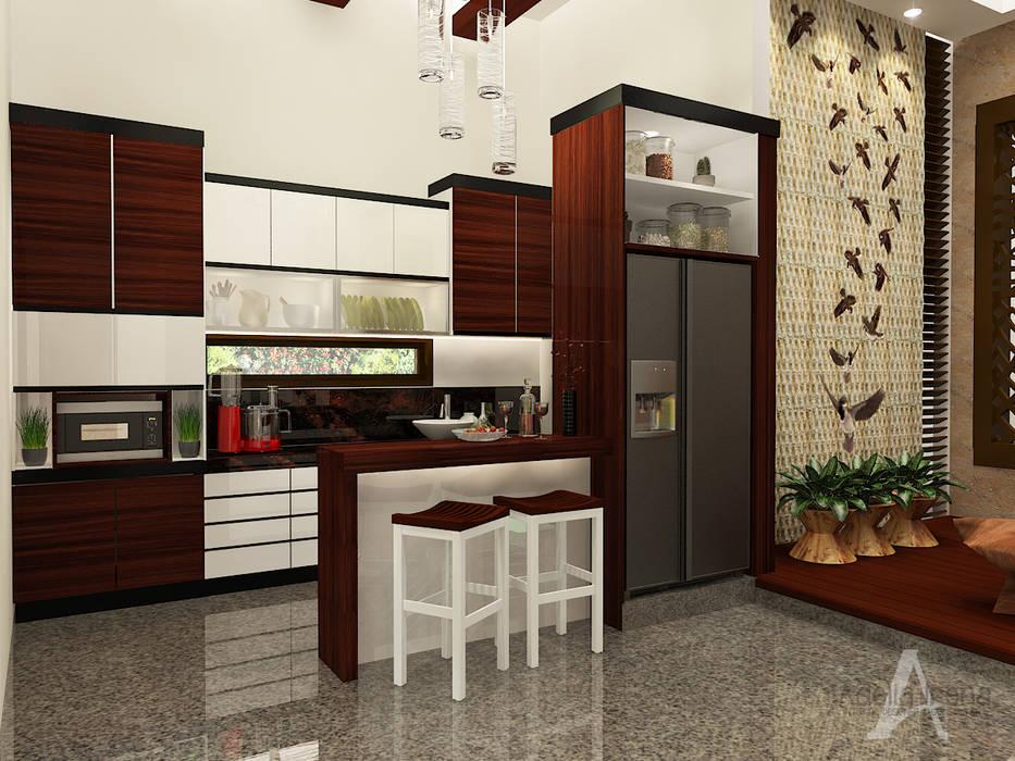 Pantry bergaya campuran antara etnik dan modern Oleh AIRE INTERIOR Modern Kayu Wood effect