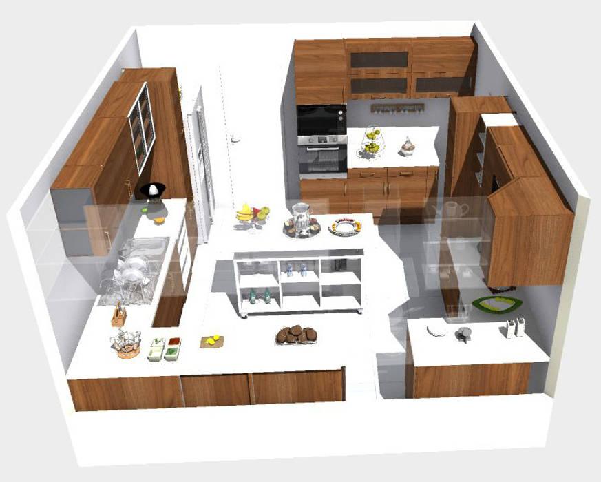 Cocina contemporánea - para reuniones familiares: Muebles de cocinas de estilo  por TAB Muebles, Moderno