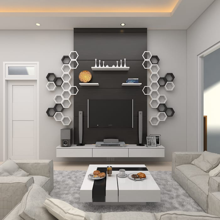 Dining Room JSK STUDIO DESIGN Ruang Keluarga Modern MDF Black