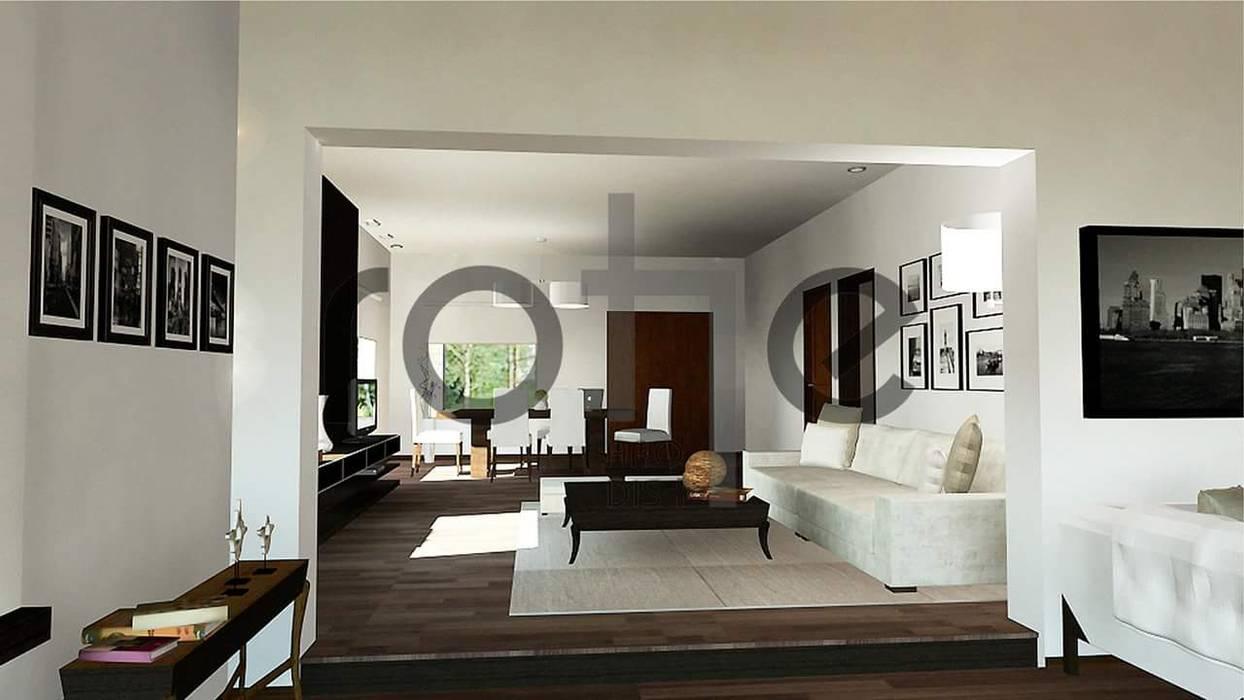 Casa Country Moderna de Rohe Arquitectura+Diseño Moderno Ladrillos