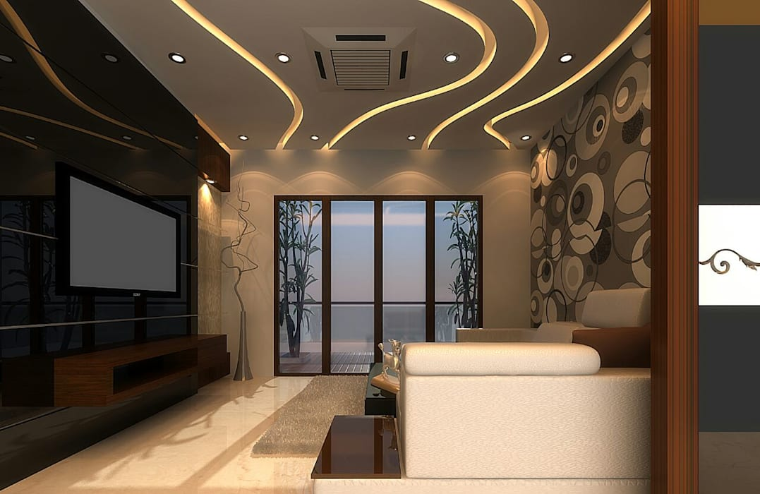 Apartment Interiors:  Roof by M/s GENESIS