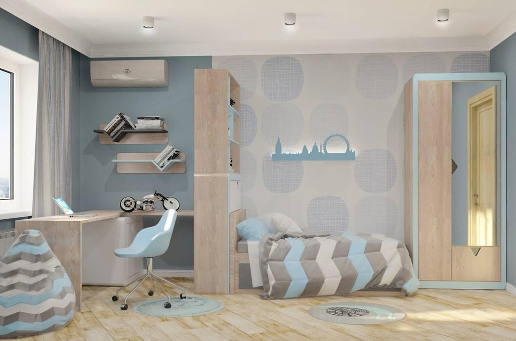 3к.кв. для больший семьи в Черемушки 2: Детские комнаты в . Автор – ДизайнМастер