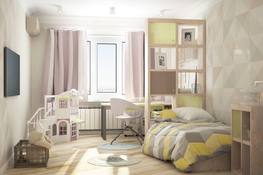 3к.кв. для больший семьи в Черемушки 2: Детские спальни в . Автор – ДизайнМастер