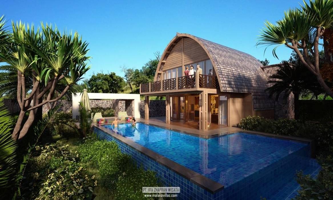 Pool Views:  Kolam renang infinity by Skye Architect